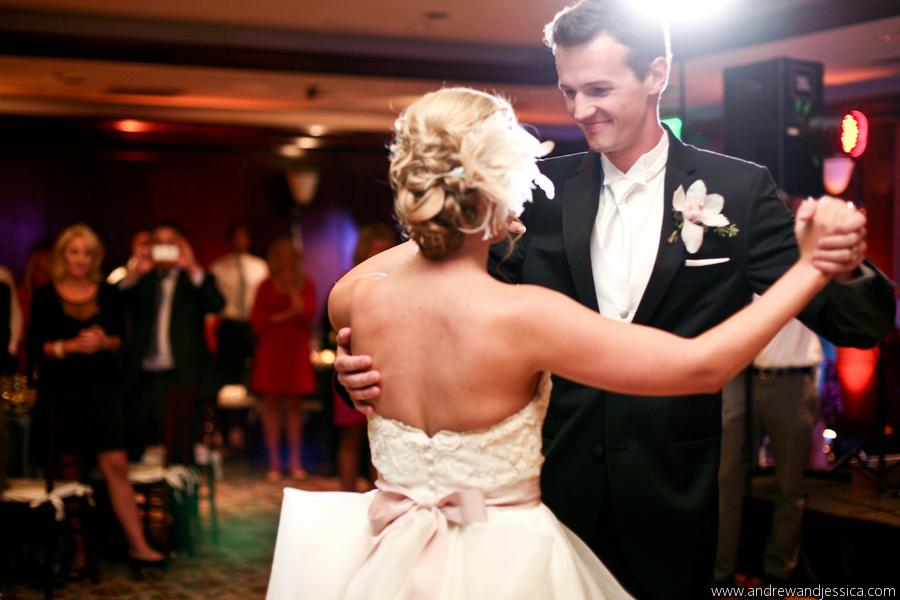 WEDDING GOWN: watters WEDDING VEIL & HEADPIECES: sara gabriel  PHOTOGRAPHER: Andrew and Jessica Photographers - anna bé bridal boutique