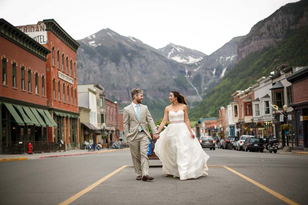 telluride mountain wedding | watters dress from anna bé bridal boutique