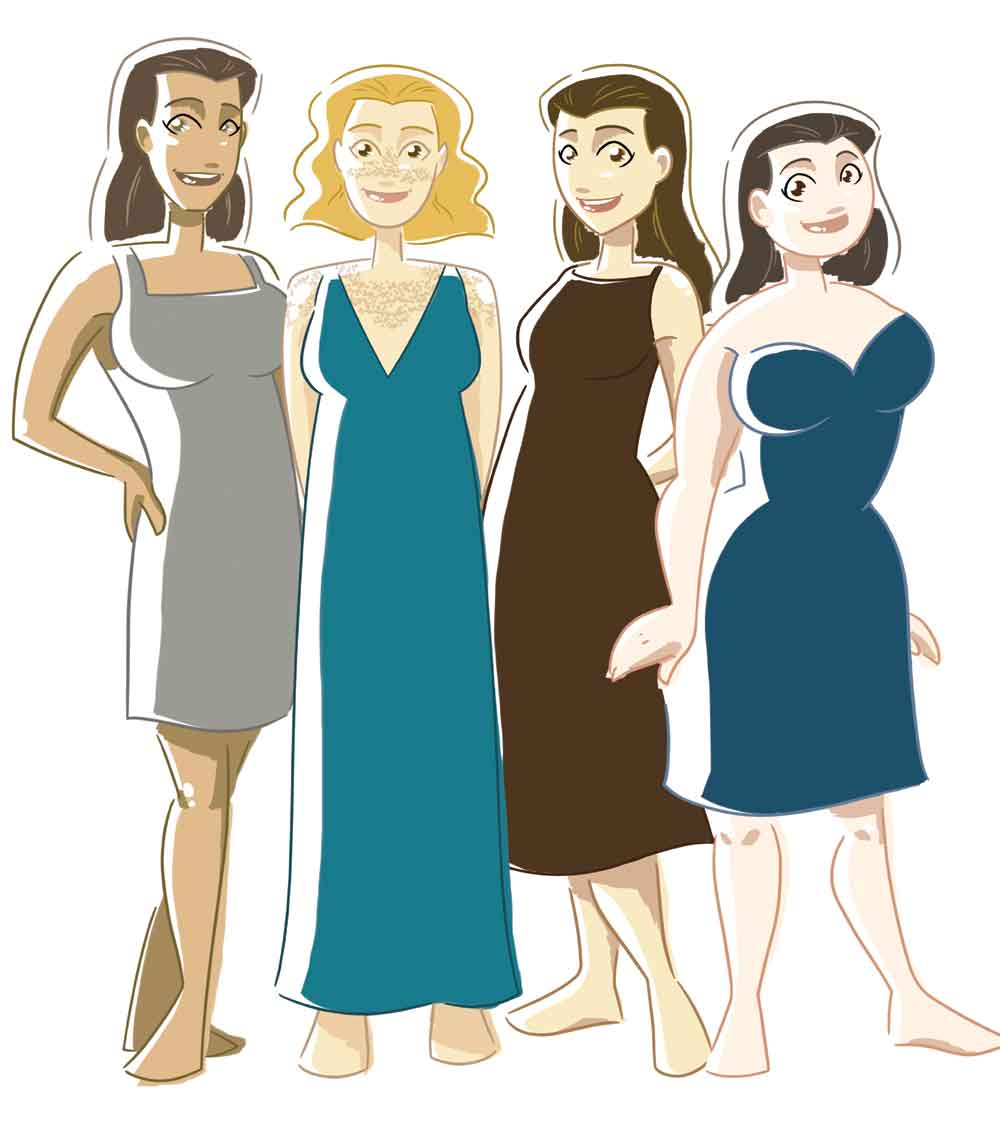 Style Guidance - understand the architecture of your body... shape, scale and proportions. receive sketches and notes on clothes, accessories, patterns and fabrics. £95