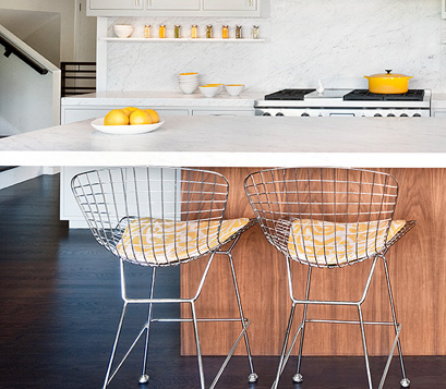 """""""Jennifer Weiss of San Francisco's  J. Weiss Design chose to stain the floors in this kitchen remodel. 'I love that adjusting the stain can make a wood floor seem more—or less—dramatic and modern',""""  says Weiss.    Original Story 