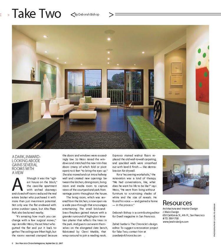 San Francisco Chronicle Magazine - Take Two