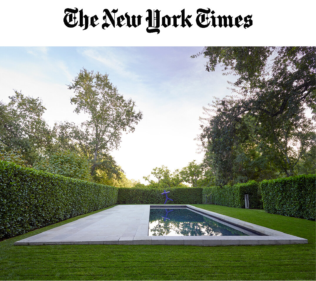 """""""The pool [designed by Jennifer Weiss Architecture] goes right into my 'dream file'.""""     -Dominique Browning ,     The New York Times"""