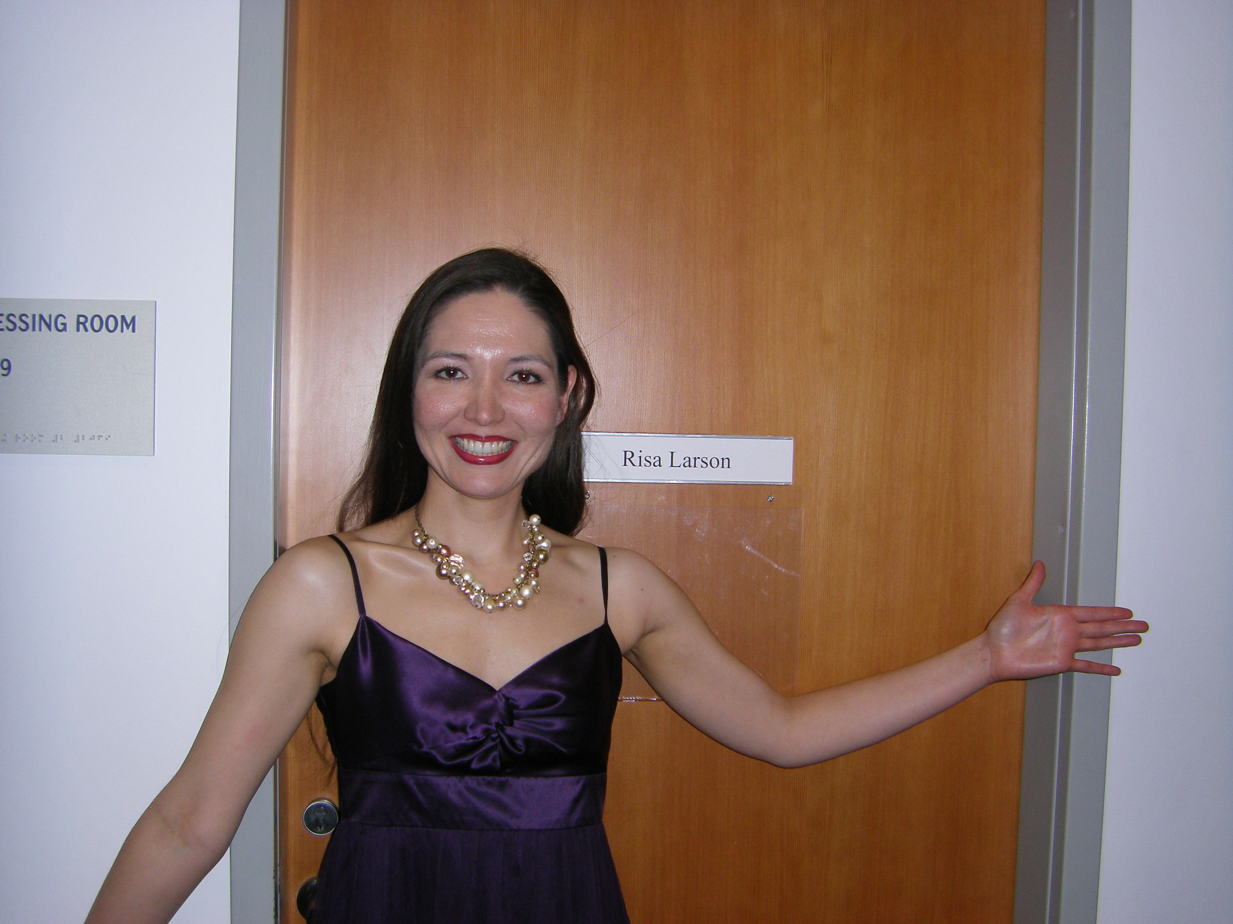 In front of my dressing room at Walt Disney Concert Hall.....ta-dah!