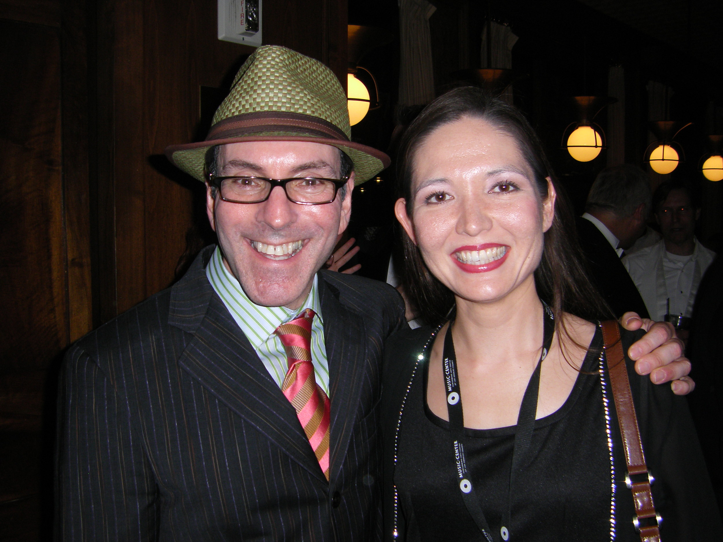 With composer Ricky Ian Gordon (LOVE the colors!) after premiering his concert suite of  The Grapes of Wrath