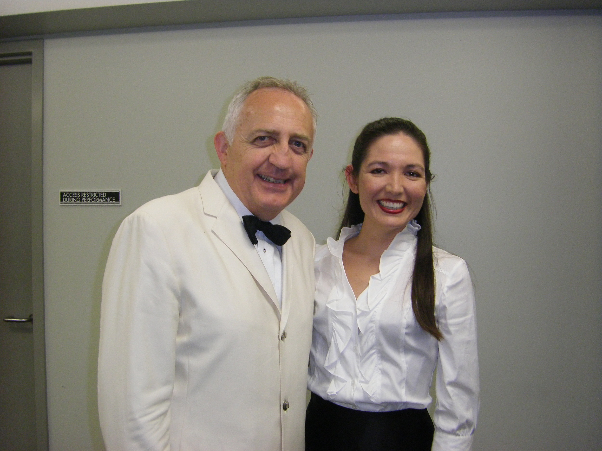 With Bramwell Tovey after performing as soloist on  Chichester Psalms  with the LA Philharmonic at the Hollywood Bowl