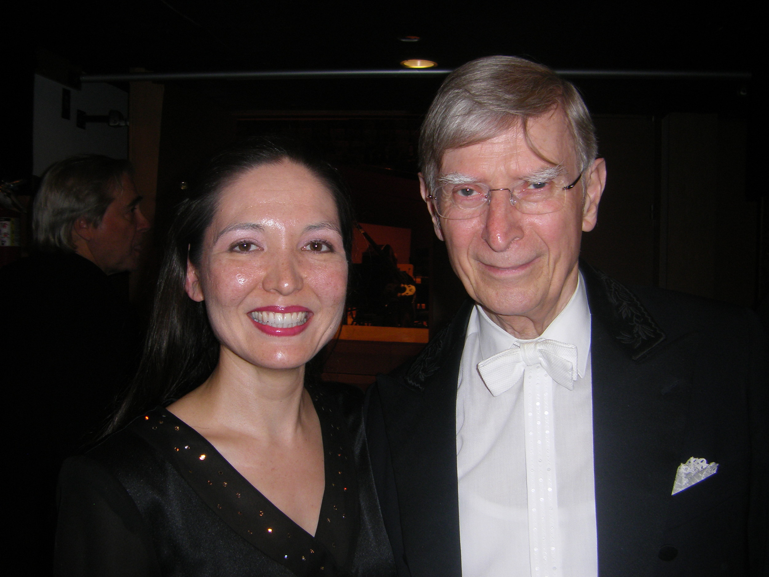 With my Swedish grandfather, Herbert Blomstedt (just kidding!)