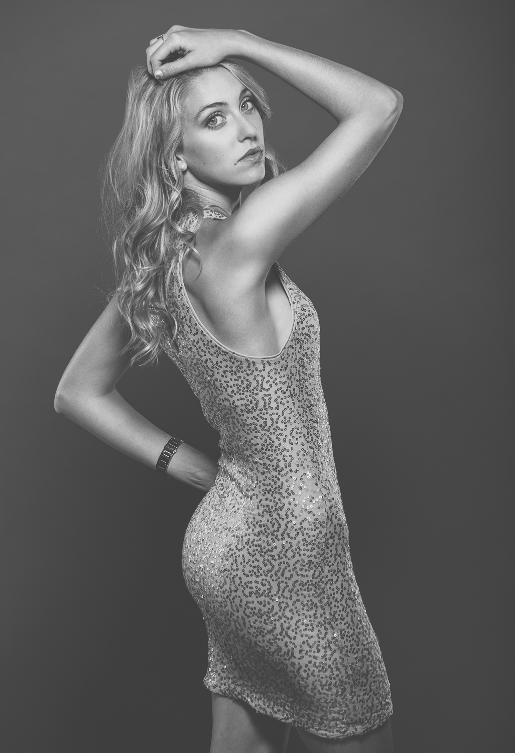 Aleah McCallum - Marek Michalek Photography Cocktail Dress Fashion Photographer Hamilton Toronto Black and White.jpg
