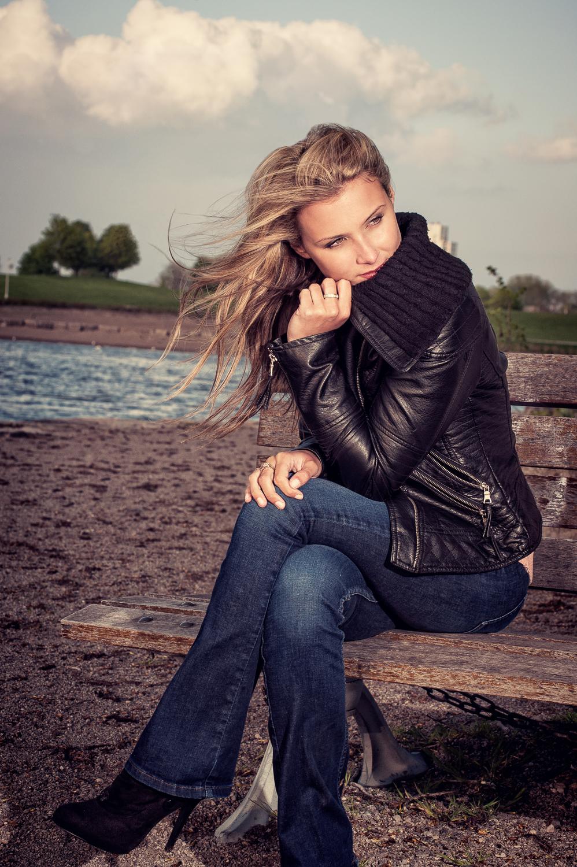 Hamilton Toronto Fashion Photographer -  Lakeside Bench by Marek Michalek.jpg
