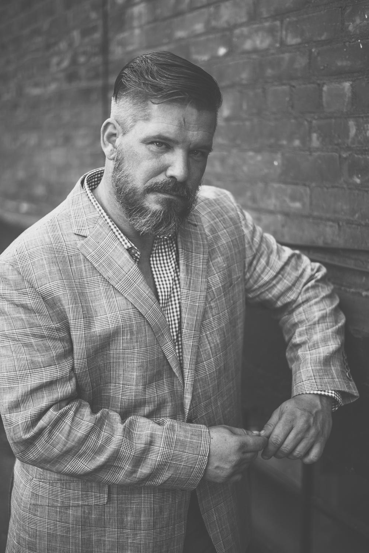 Hamilton Toronto Fashion Photographer -  Male Model Black and White by Marek Michalek .jpg