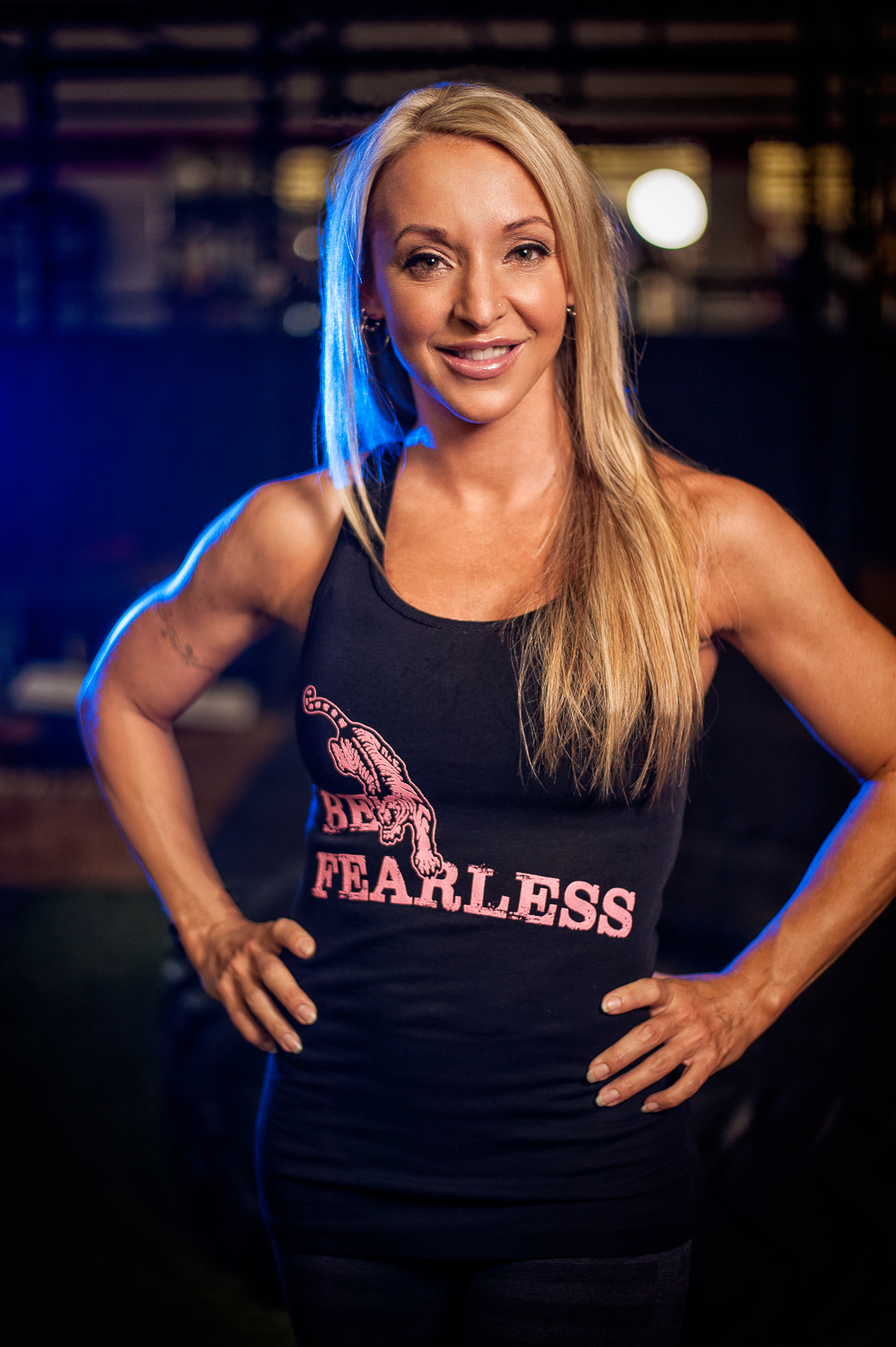 Hamilton Toronto Fitness Photographer - Metamorfose Clothing Line Be Fearless Tanktop by Marek Michalek.jpg