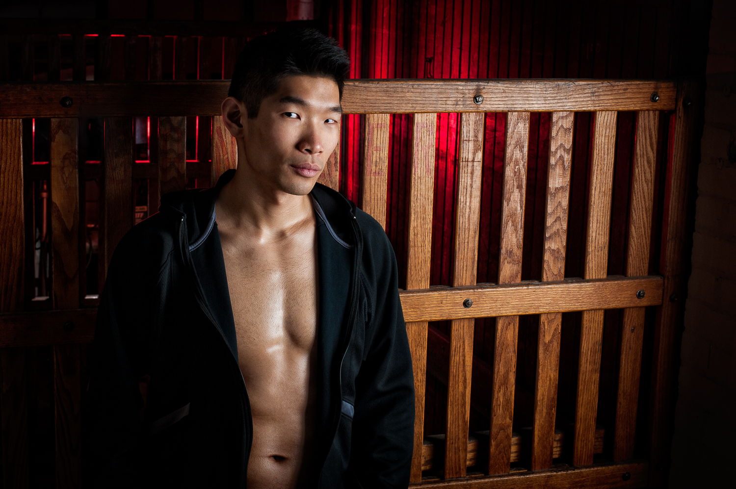 Hamilton Toronto Fitness Model Leo Chan Red Light - Photographer - Marek Michalek.jpg
