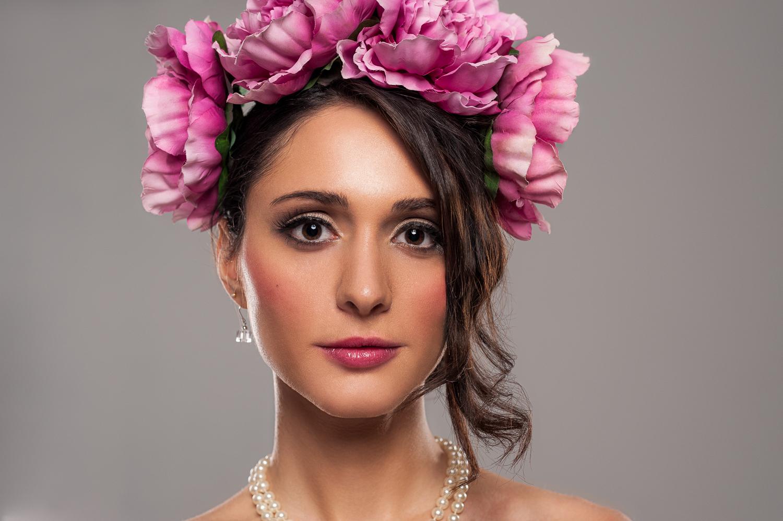Hamilton Toronto Ontario Photographer - Female Flower Headpiece Portrait - Photo by Marek Michalek.jpg