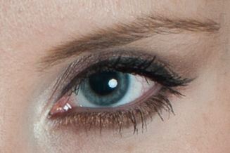 The catch light is the bright white spot in the pupil