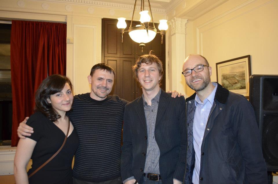 From left: Genevieve Burger-Weiser, me, Kris Jansma, Andrew Bodenrader