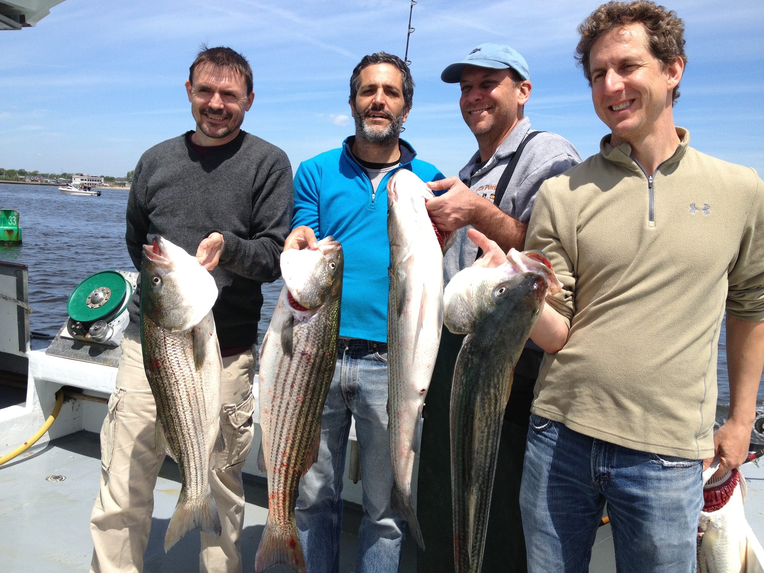 The crew, with the haul.