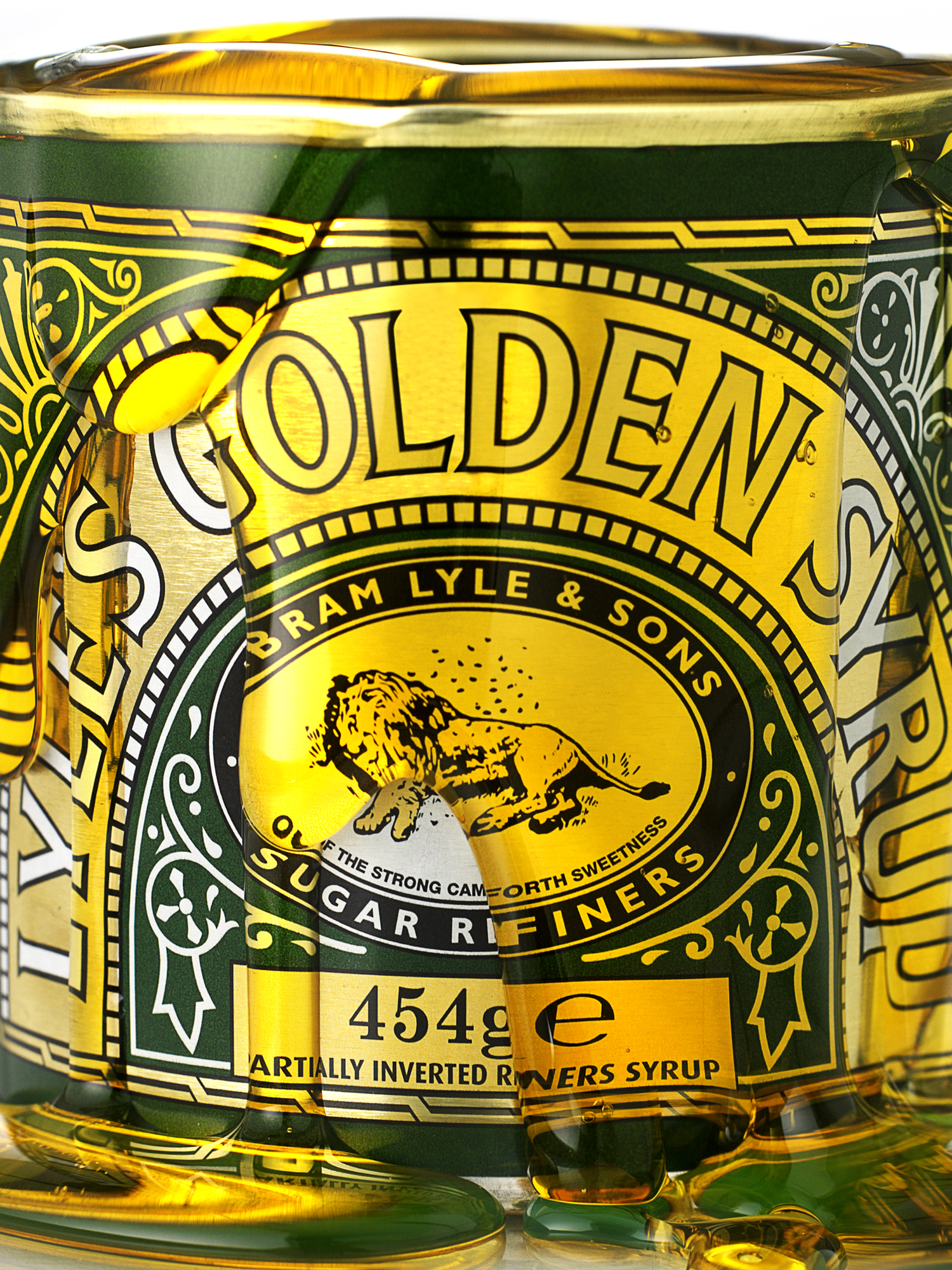 food photography london food photographer london recipe advertising cook book cook editorial packaging design graphic bold bright vibrant lighting lit flash photoshop syrup lyles golden lyle pour mess drip pouring lion tin macro close up personal work drink