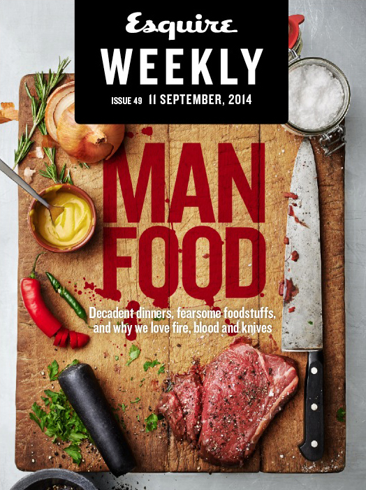 Esquire: Man Food Issue.