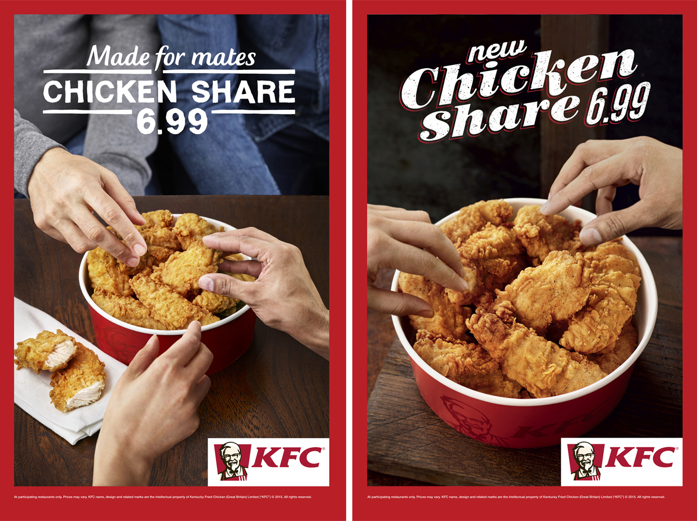 KFC. Chicken Share Advertising.