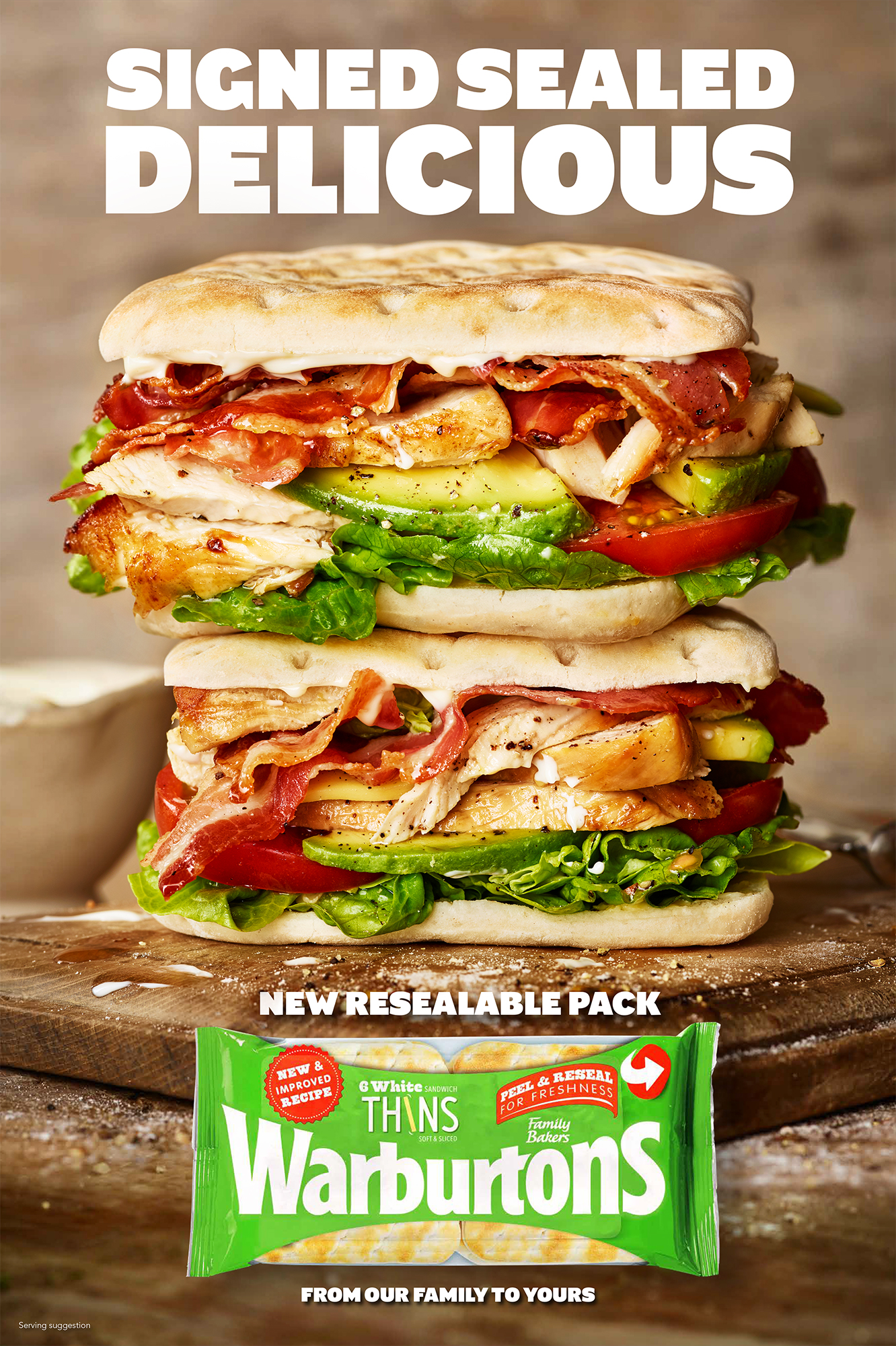 food photographer photography london uk drinks meals lunch dinner brunch breakfast advertising editorial gherkinspickles sandwich sarnie bread baked mayonnaise lettuce warburtons thins chicken bacon avocado tomato