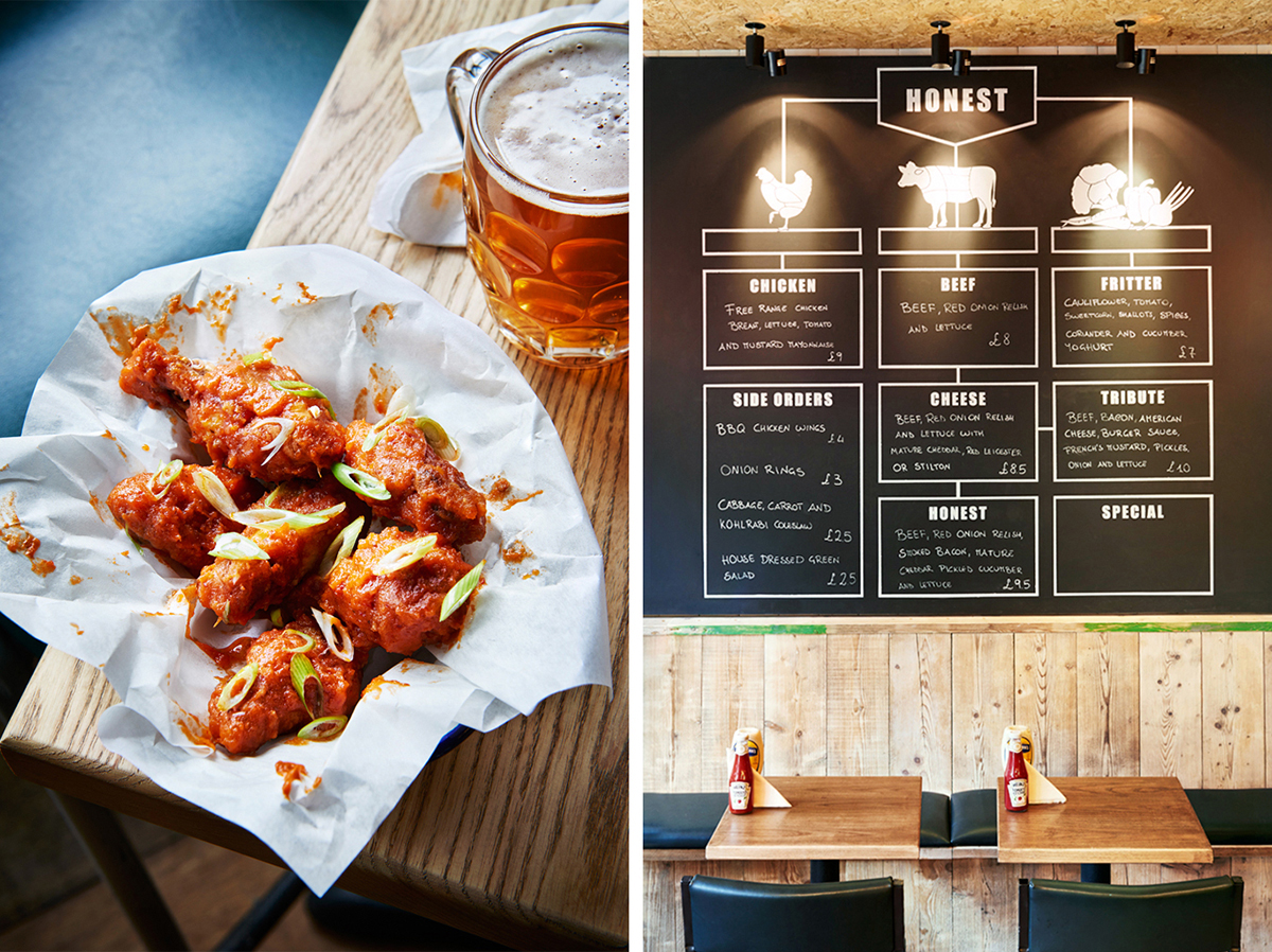 Honest Burgers: Wings & Interiors
