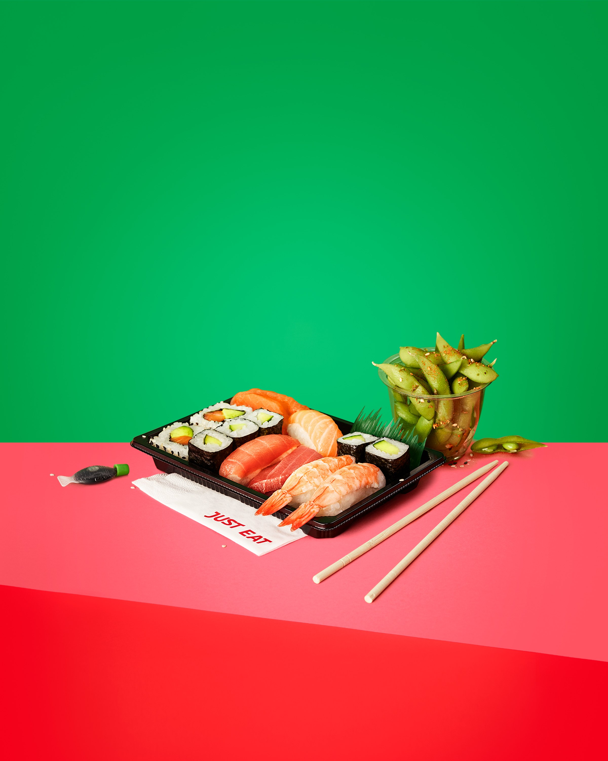 Just Eat: Brand Guidelines, Sushi.