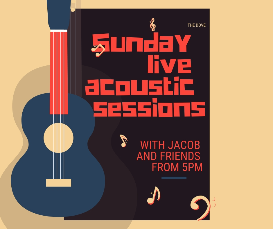 Join us for laid back acoustic guitar with Jacob and friends.