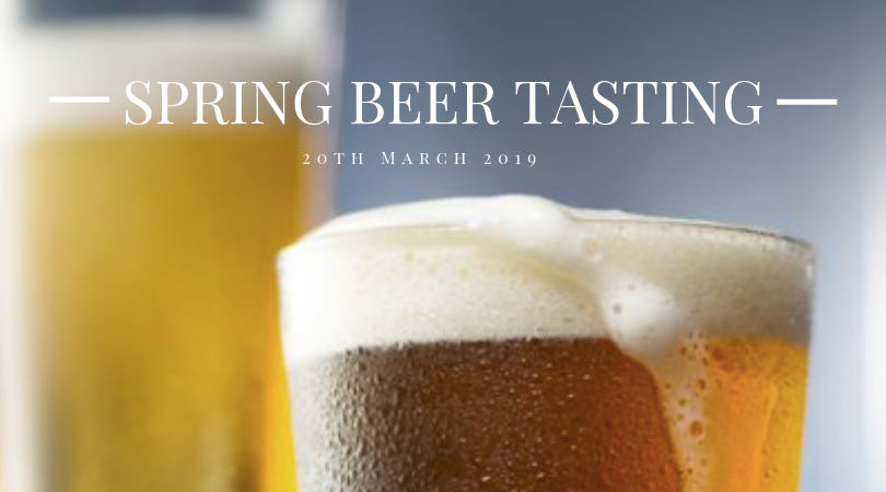 Join us for our next beer tasting, with the colder months behind us time to think about some different beers for the season. See booking details on the right for this event. For more information of what to expect at our beer tasting follow this link.