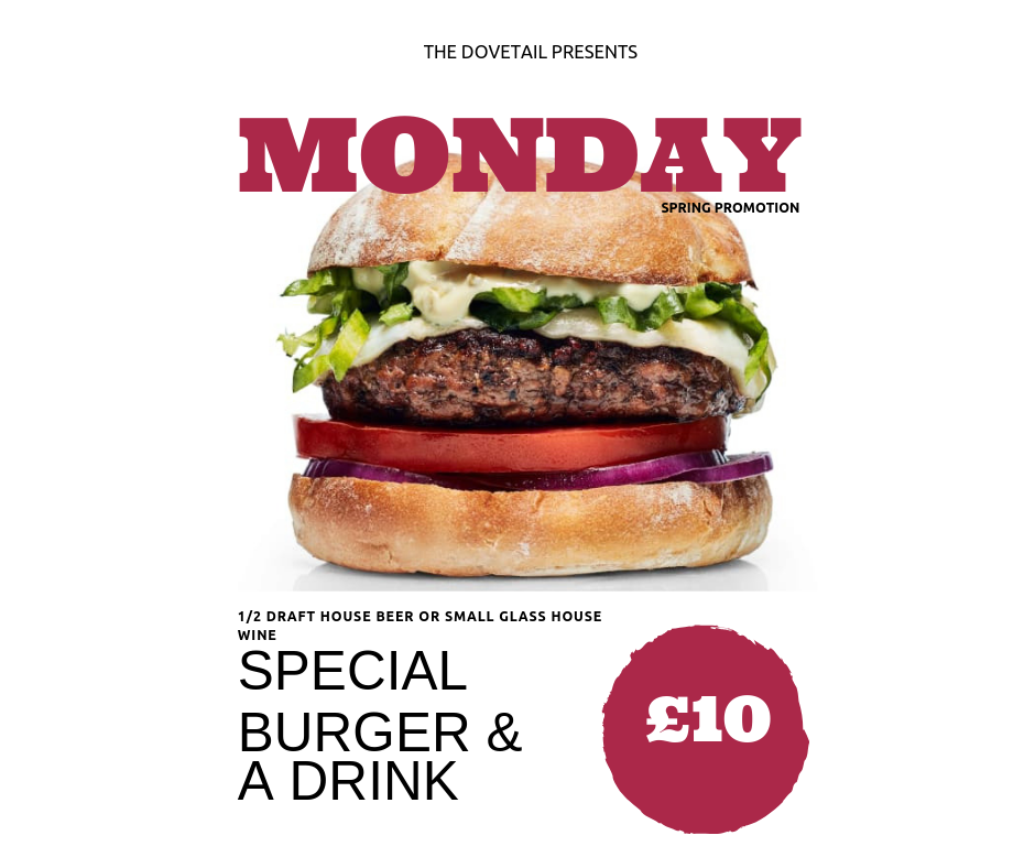 Monday Voucher offer. Valid until 30th June 2019.