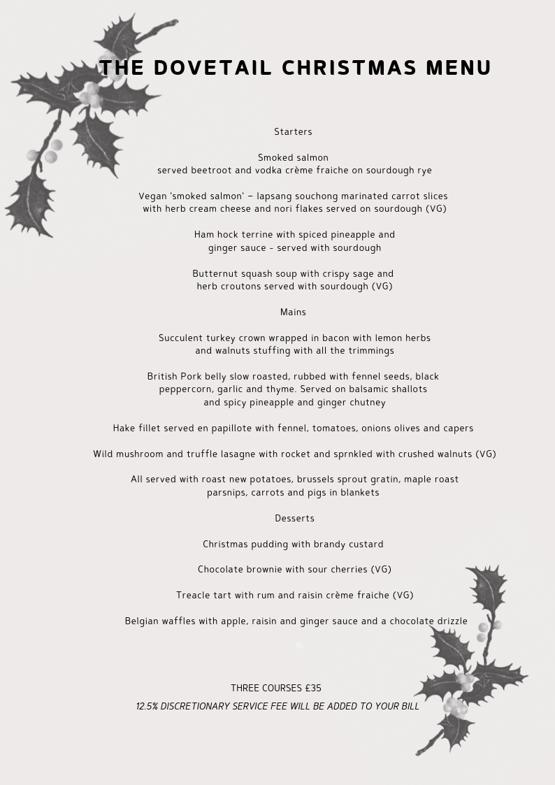 The Dovetail Christams 19 Menu.png