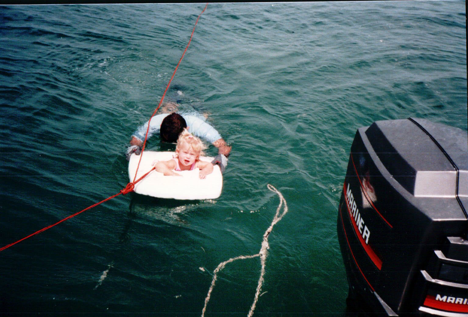 I was used as shark & barracuda bait quite a bit while my parents were busy lobstering in the southern Florida Keys.