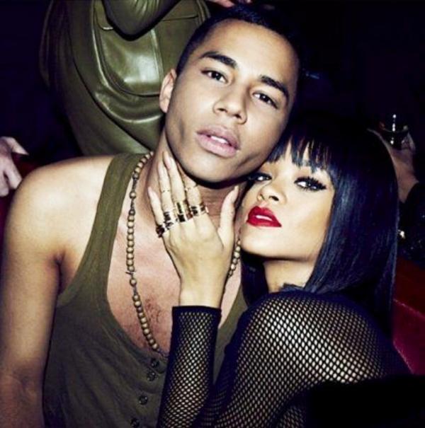 Photo via of Huff Post Fr- Olivier Rousteing & Rihanna