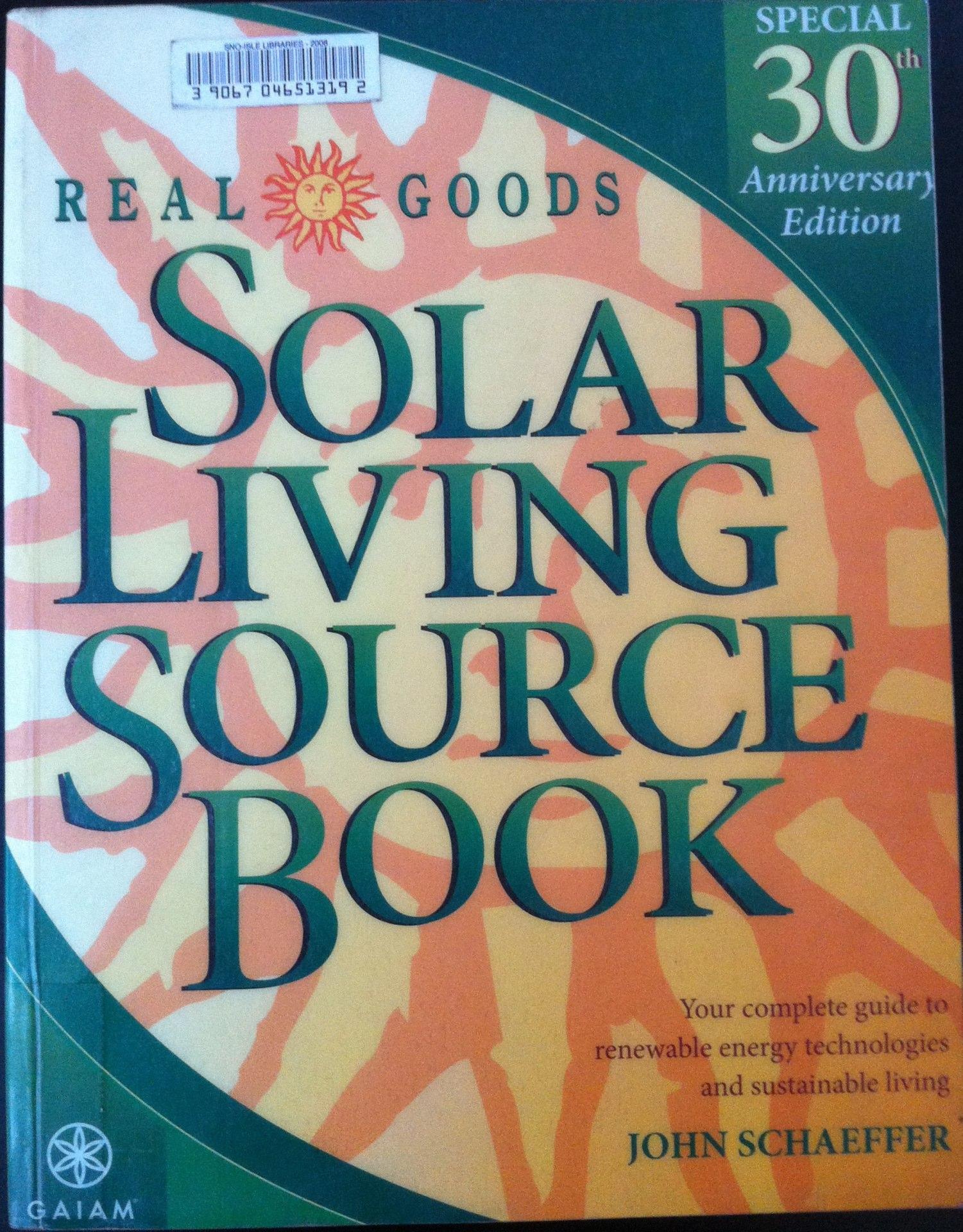 Real Goods   Solar Living Source Book   John Schaeffer
