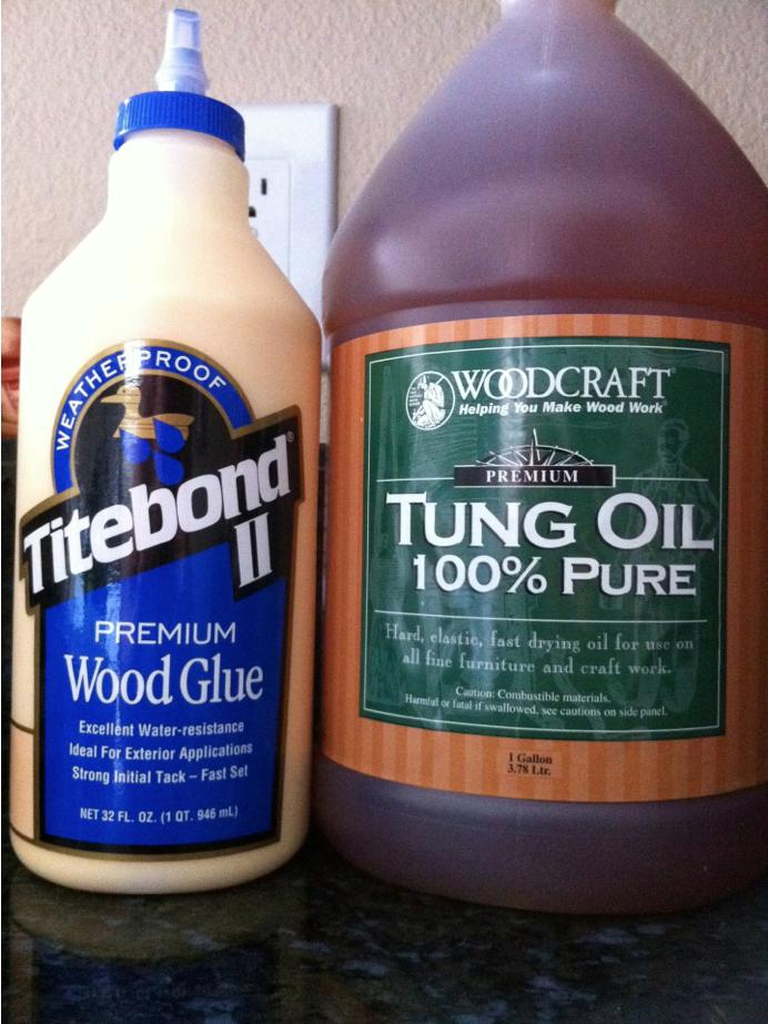 Tung Oil and Wood Glue
