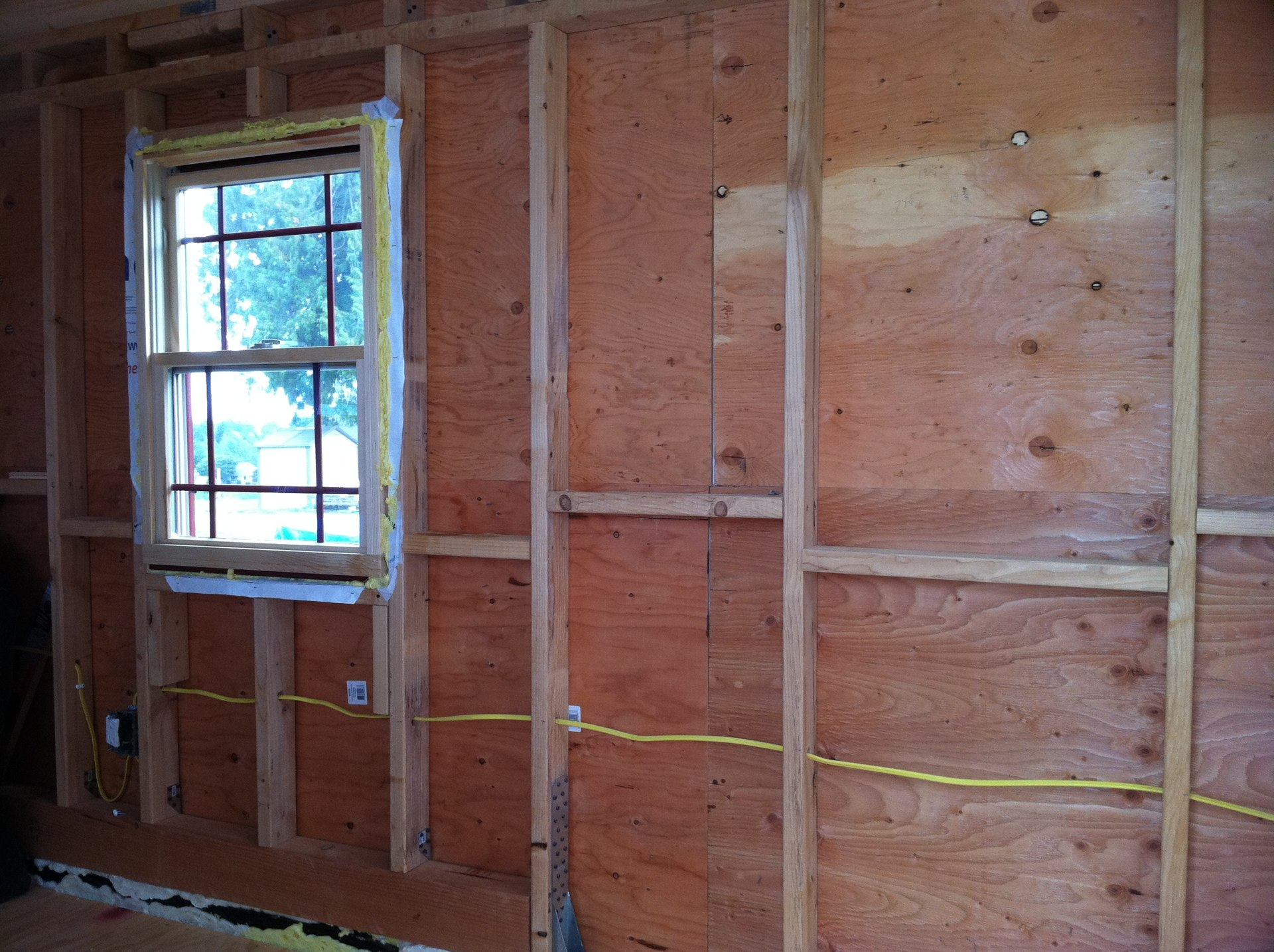 Before insulation and siding.