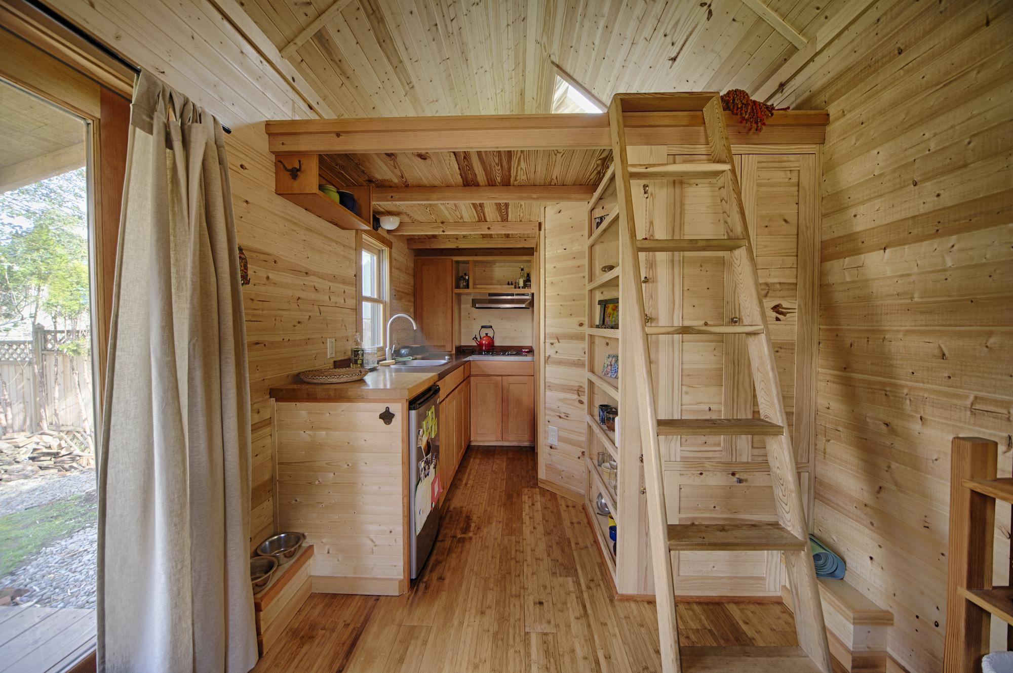 Inside Gina's Tiny House  -Photo by Christopher Tack