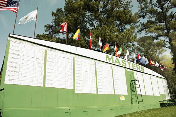 Masters entrance scoreboard