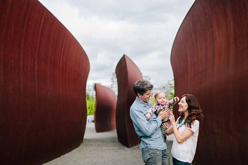 Olympic Sculpture Park family photos