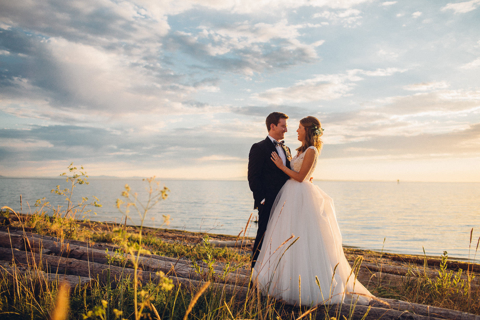 Semiahmoo wedding beach photography