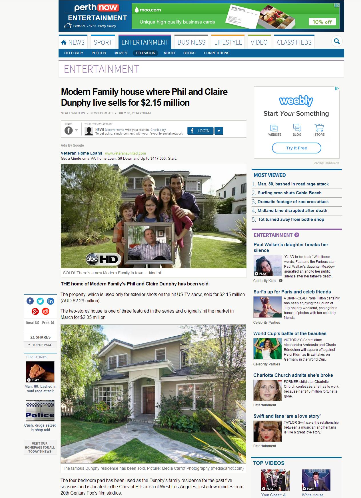 Click on the image to view the article and see a few more of our photos!