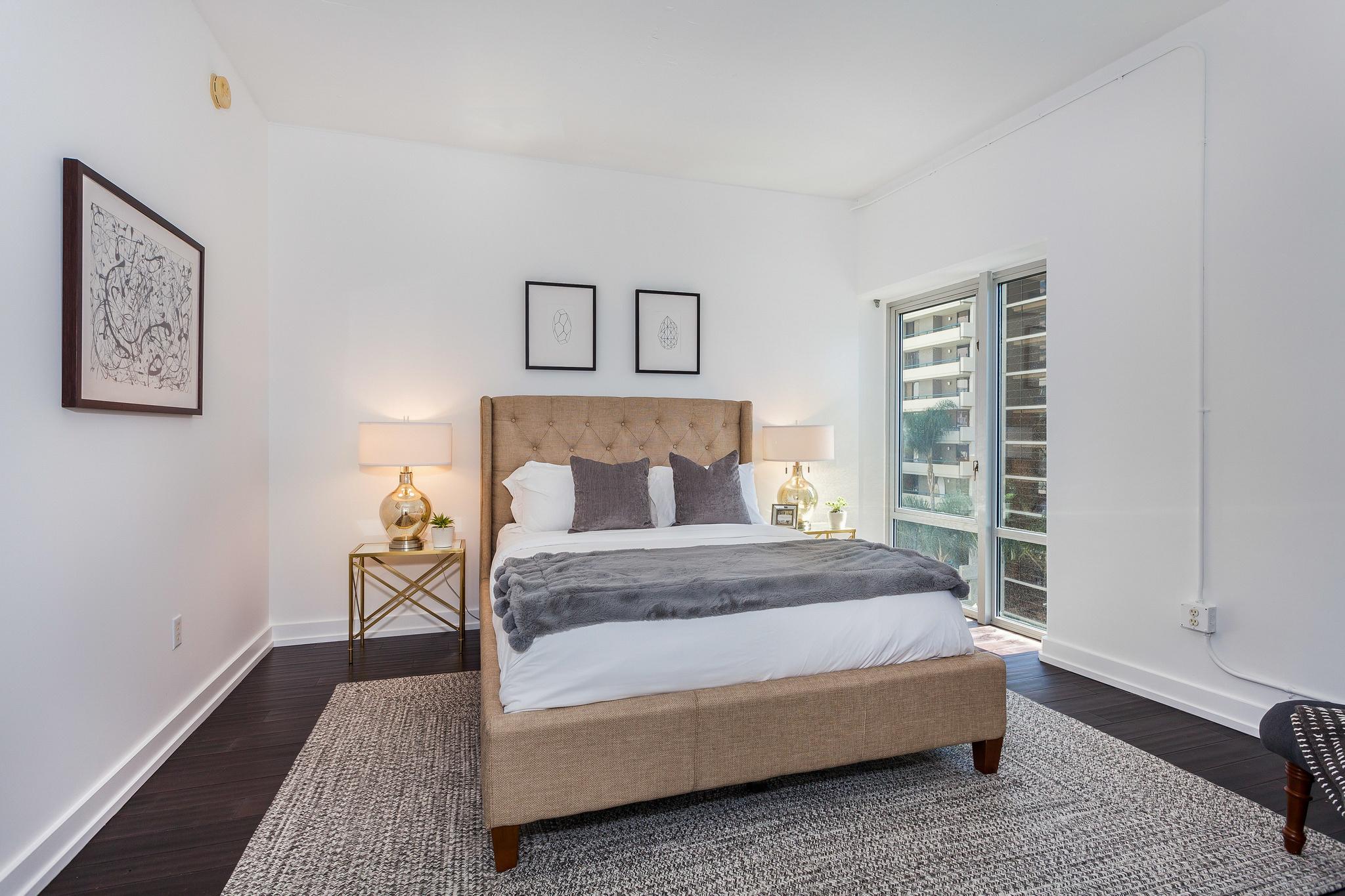 view of first bedroom from doorway