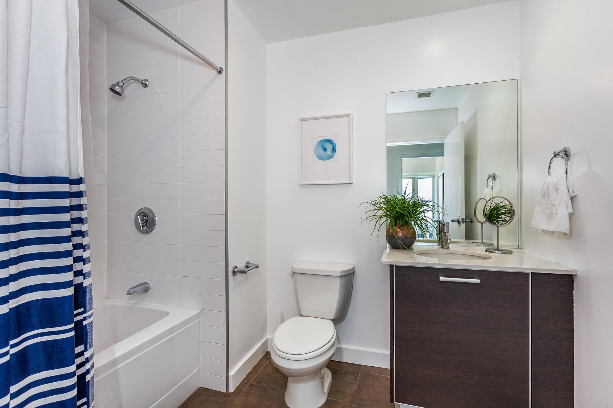 view of second bathroom from doorway