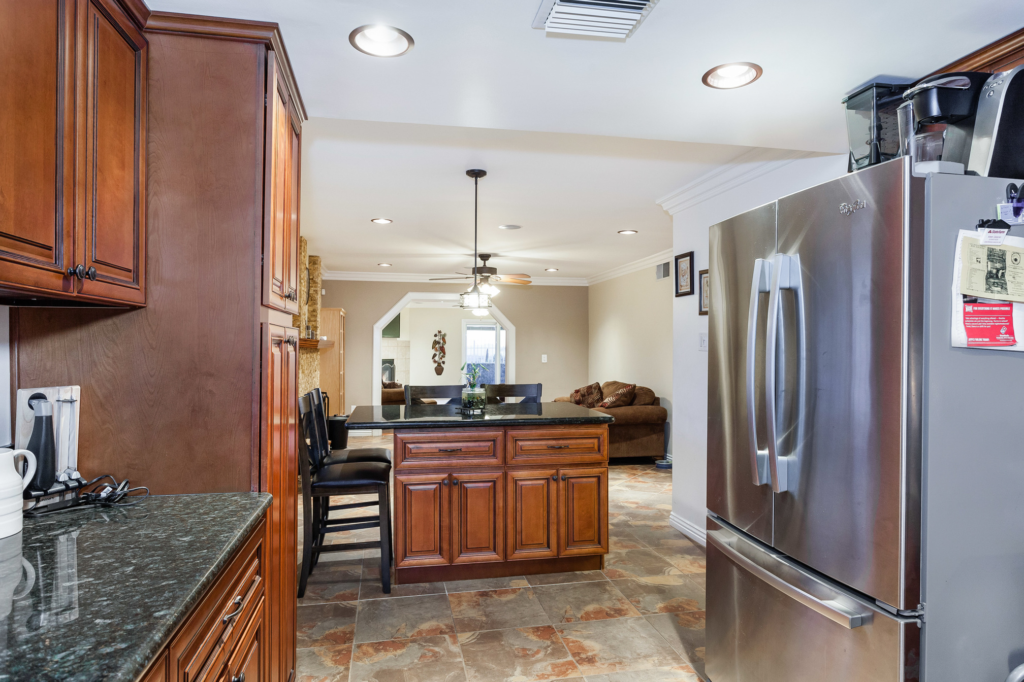 view of kitchen reverse angle