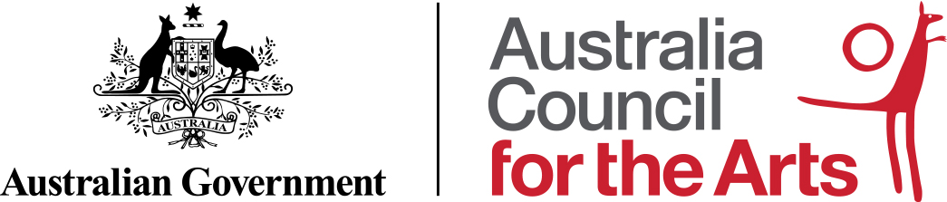 The Australian Government through the Australia Council, its arts funding and advisory body
