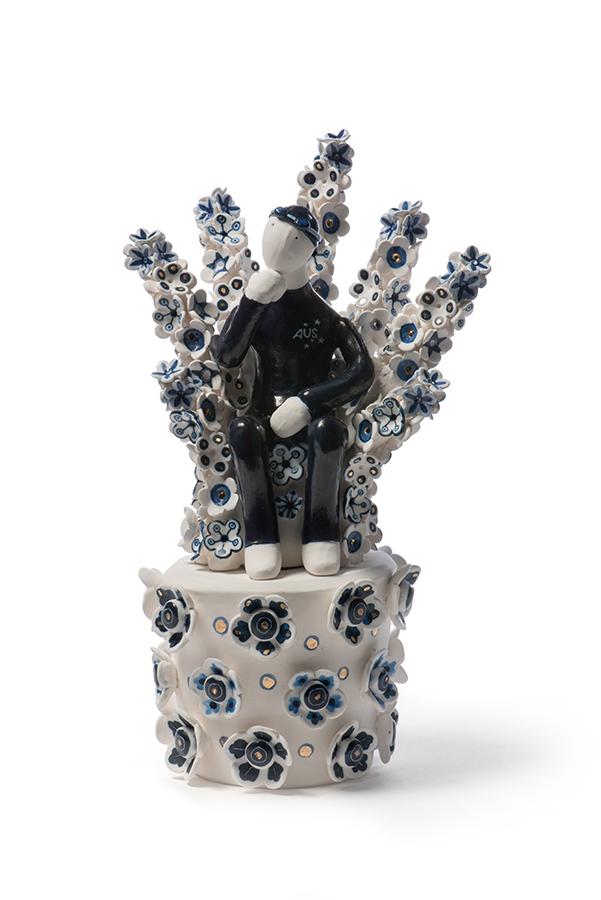 Fan  (detail) 2016,porcelain,dimensions variable
