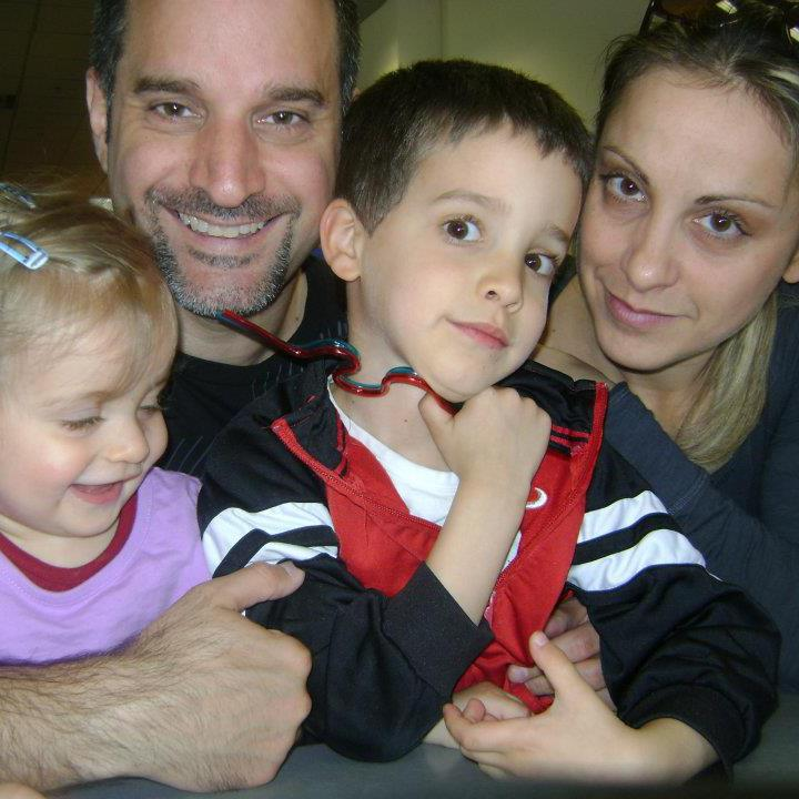 Pastor Frank Dell'Erba, his wife Irene, and their children