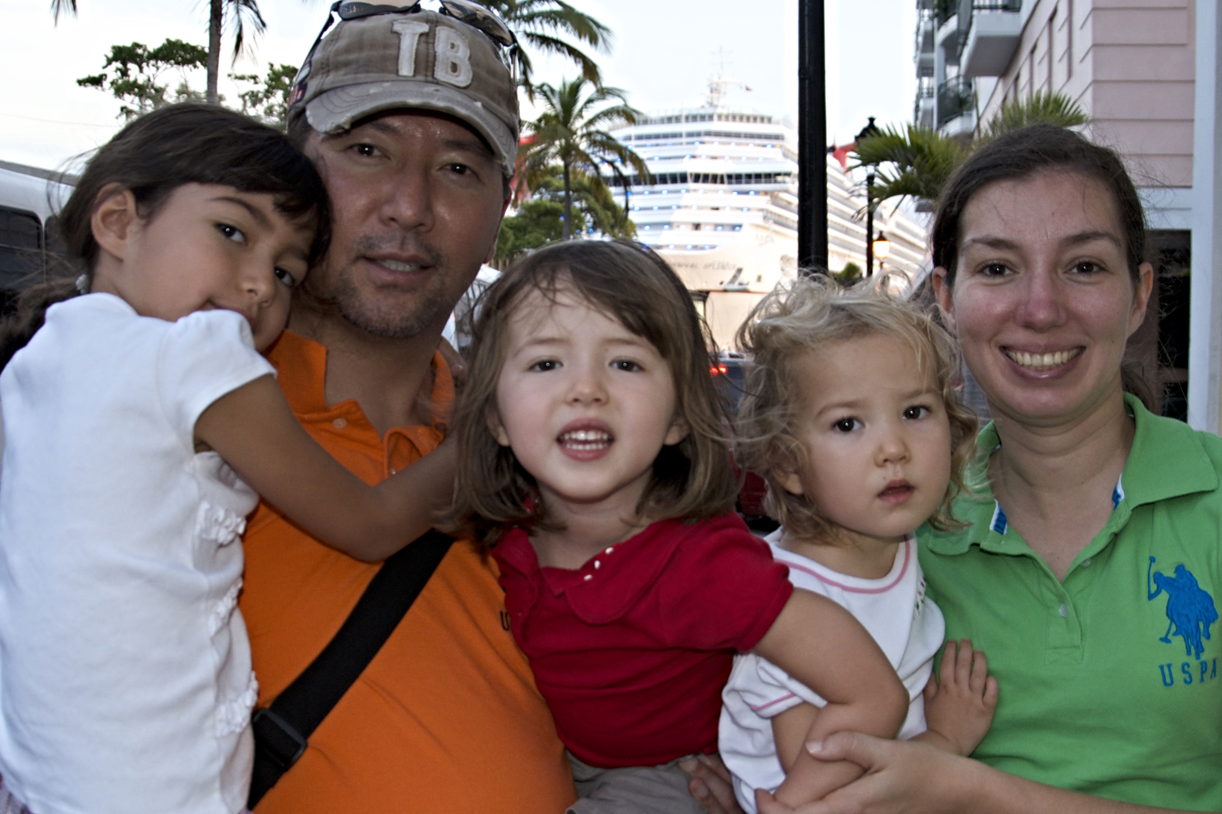 Pastor Jiwan Moon, his wife Jessica, and their daughters