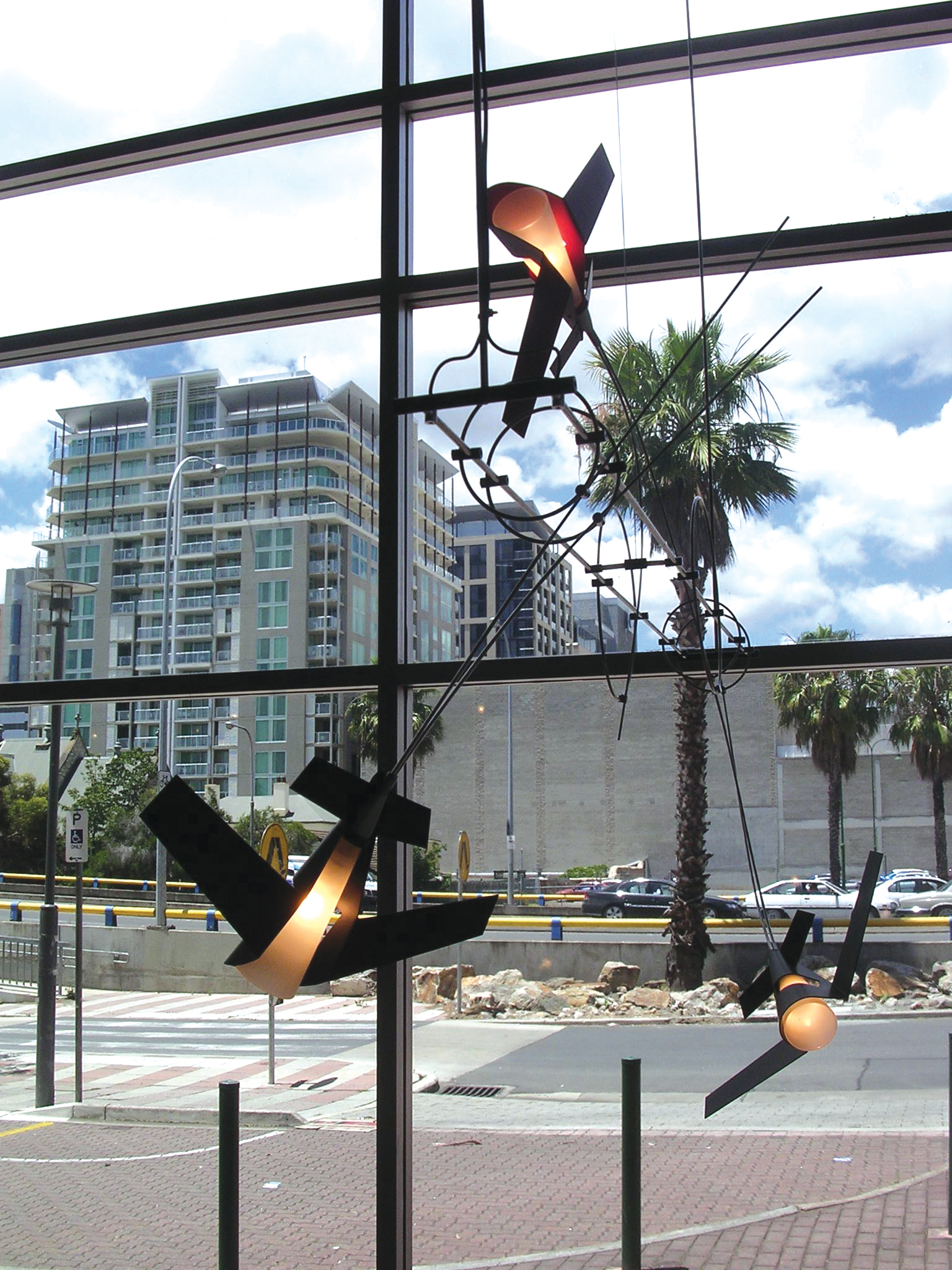 Aerial Light #2 | 2005 | Stainless Steel, Anodised Aluminium, Glass | 1.2M