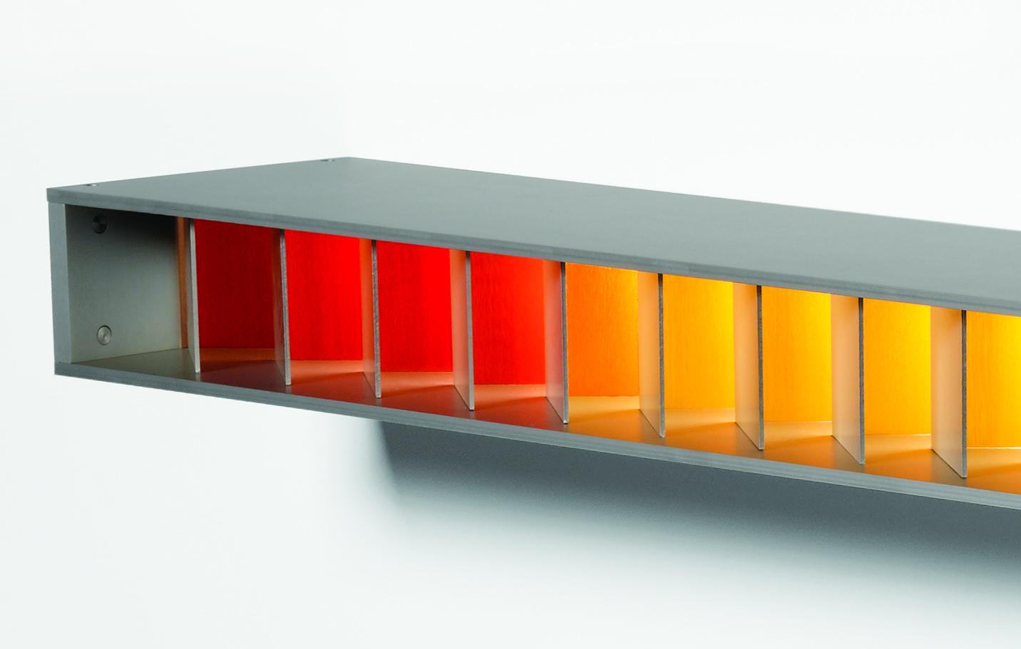 Spectrum 1 & 2 | 2012 | Anodised Aluminium | 1450mm L x 92mm H x 180mm D | Image: Grant Hancock