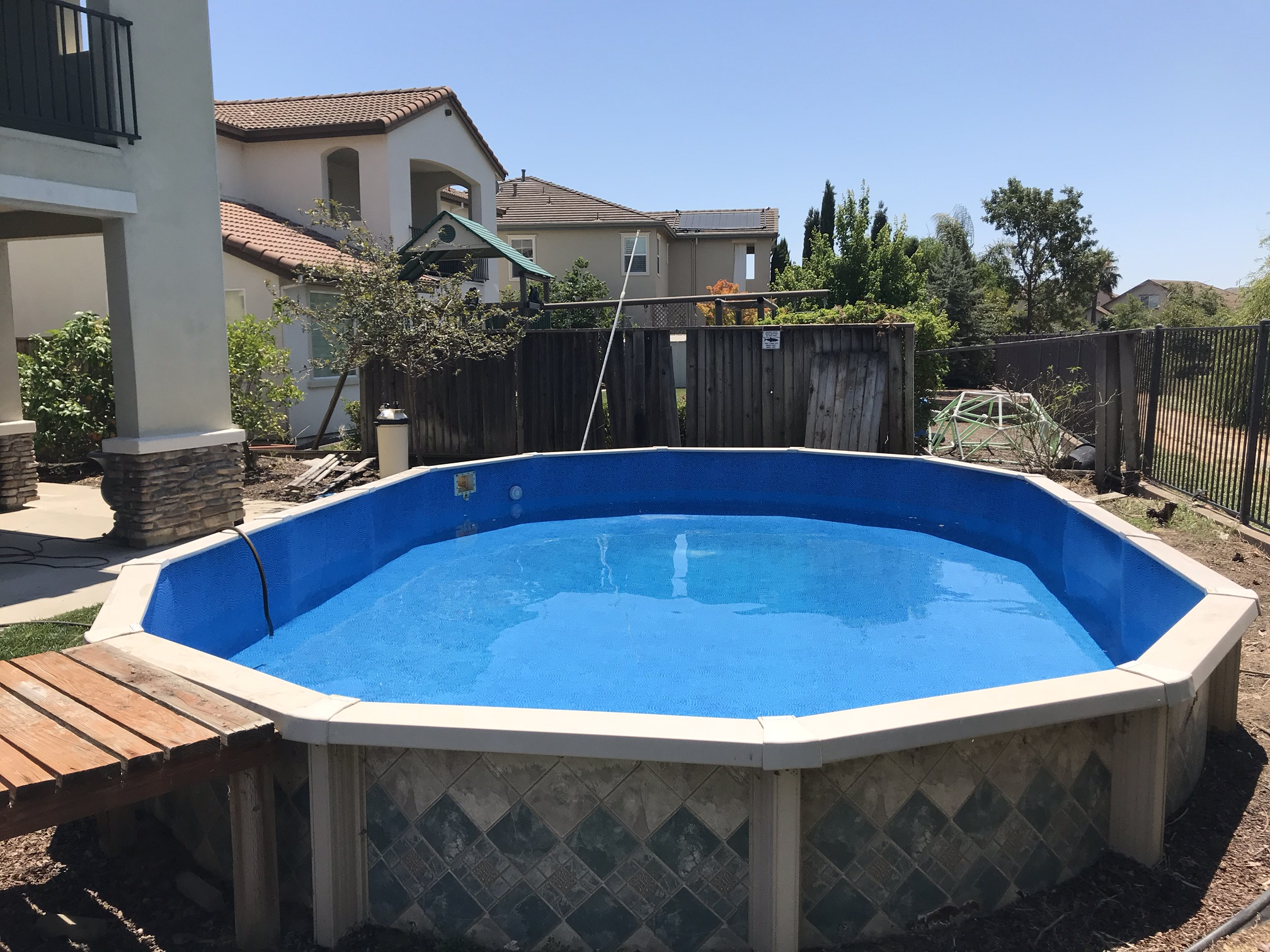 16x24 Above Ground Pool Liner Installation In West