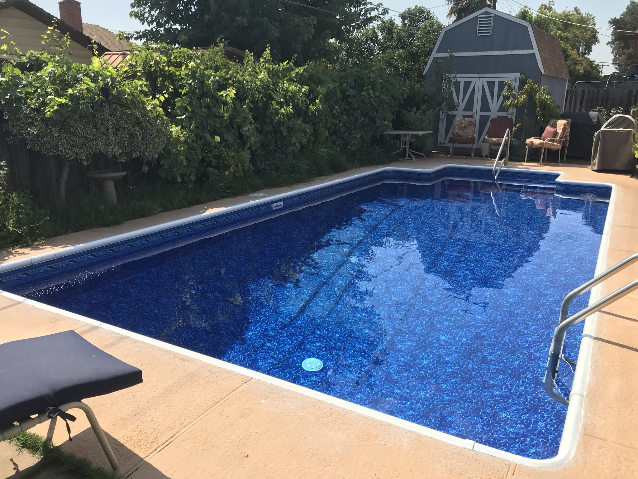 15x30 Inground Pool Liner Installation In Rancho Cordova Ca Above The Rest Pools Inc